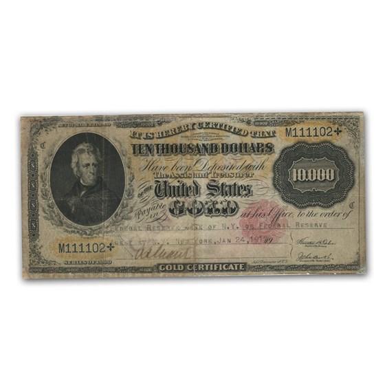 1900 $10,000 Gold Certificate Fine Details