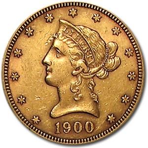 1900 $10 Liberty Gold Eagle AU