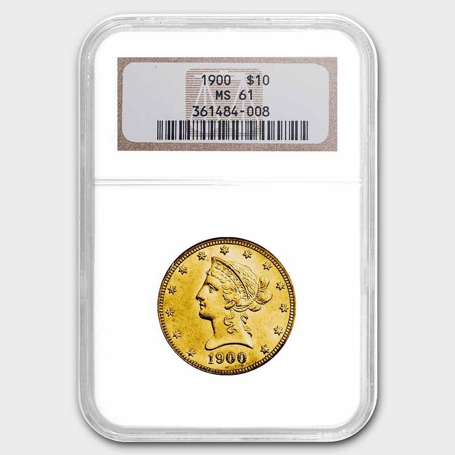 1900 $10 Liberty Gold Eagle MS-61 NGC
