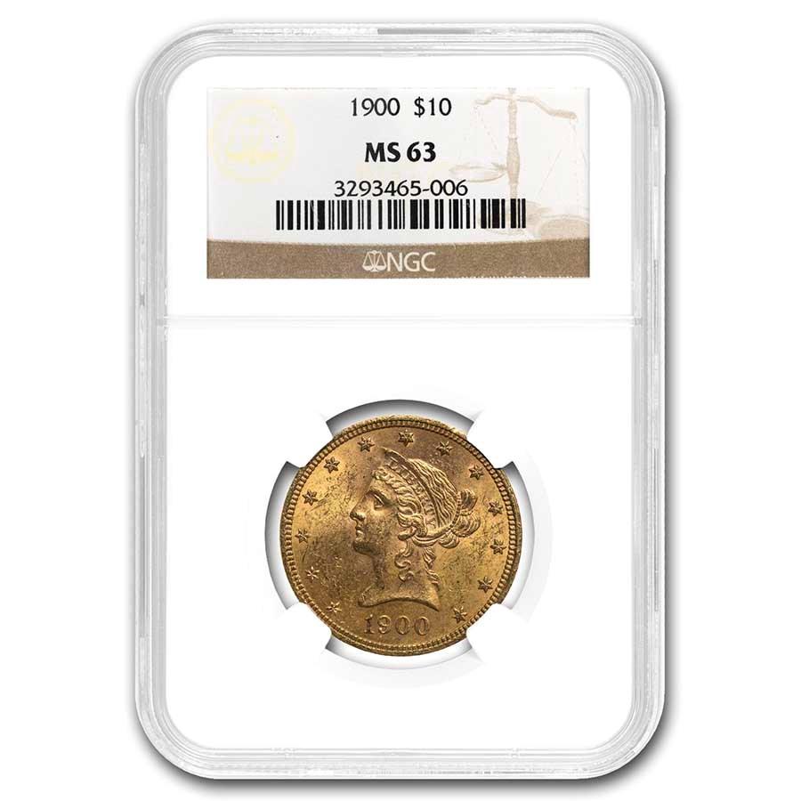 1900 $10 Liberty Gold Eagle MS-63 NGC