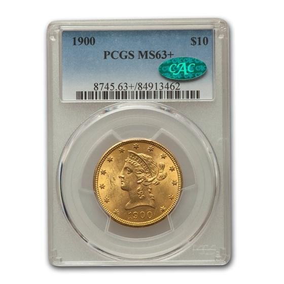 1900 $10 Liberty Gold Eagle MS-63+ PCGS CAC