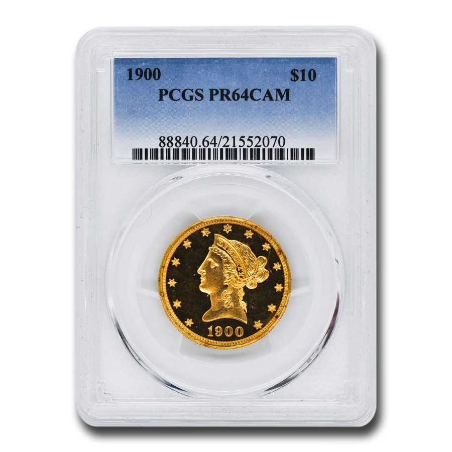 1900 $10 Liberty Gold Eagle PR-64 Cameo PCGS