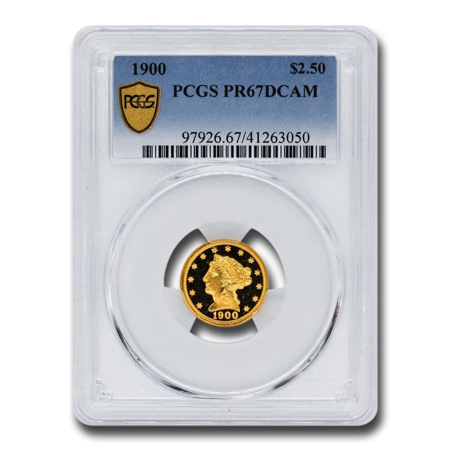 1900 $2.50 Gold Quarter Eagle PR-67 DCAM PCGS