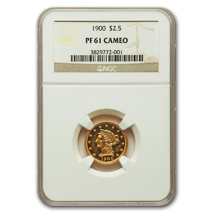 1900 $2.50 Liberty Gold Quarter Eagle PF-61 Cameo NGC