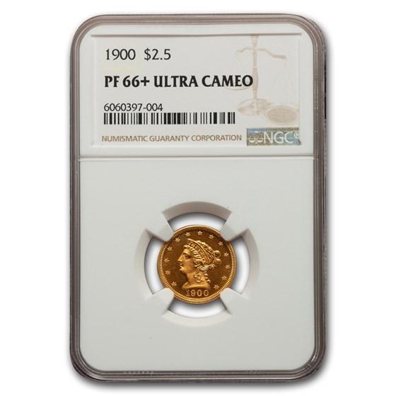 1900 $2.50 Liberty Gold Quarter Eagle PF-66+ UCAM NGC