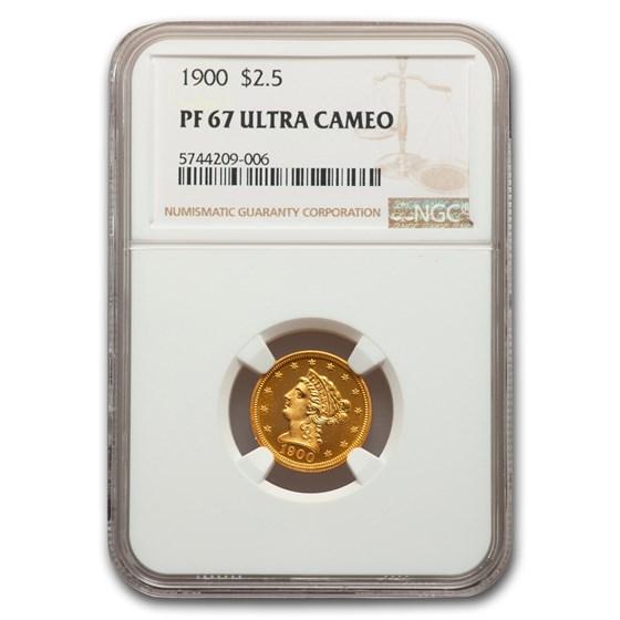 1900 $2.50 Liberty Gold Quarter Eagle PF-67 UCAM NGC