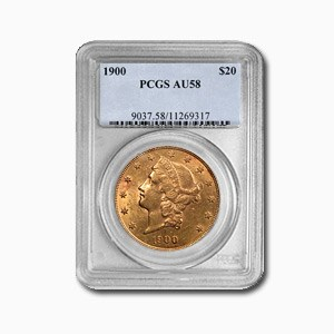 1900 $20 Liberty Gold Double Eagle AU-58 PCGS