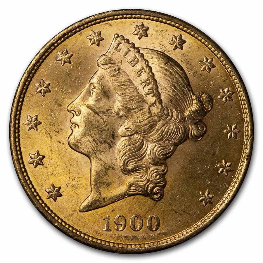 1900 $20 Liberty Gold Double Eagle BU