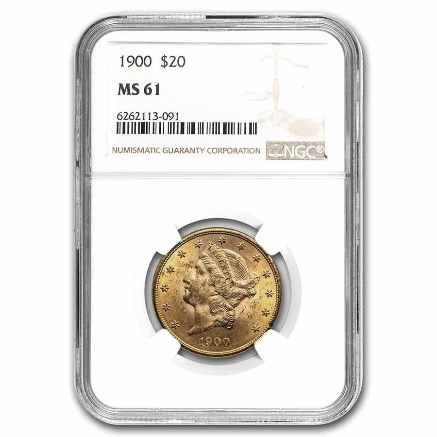1900 $20 Liberty Gold Double Eagle MS-61 NGC