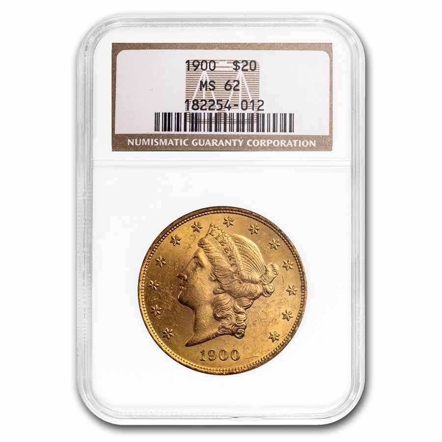 1900 $20 Liberty Gold Double Eagle MS-62 NGC