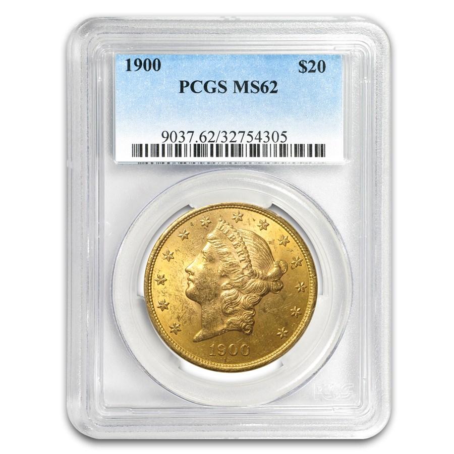 1900 $20 Liberty Gold Double Eagle MS-62 PCGS