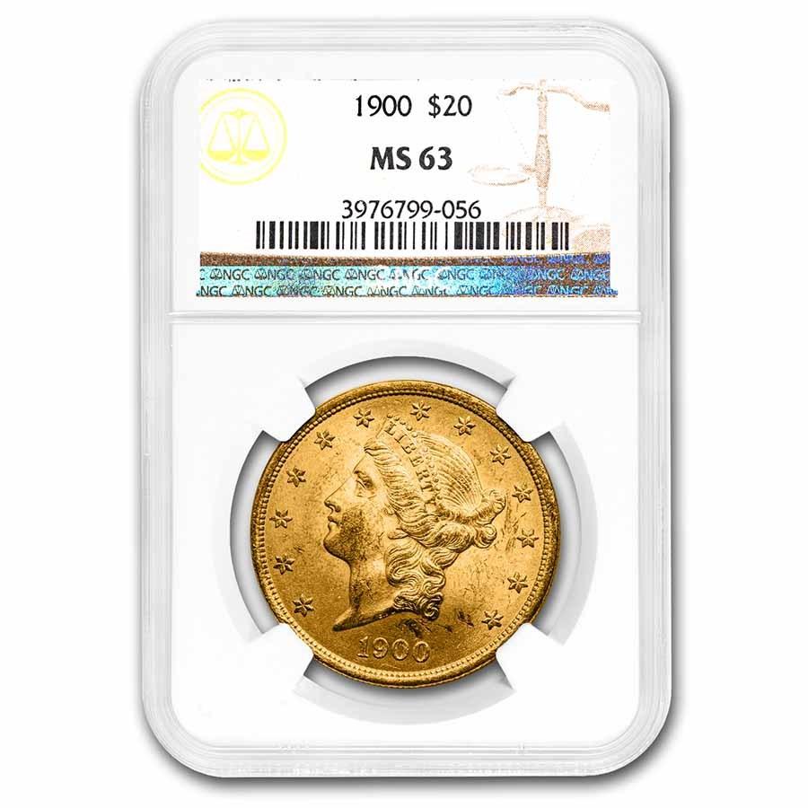 1900 $20 Liberty Gold Double Eagle MS-63 NGC