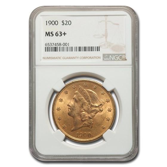 1900 $20 Liberty Gold Double Eagle MS-63+ NGC