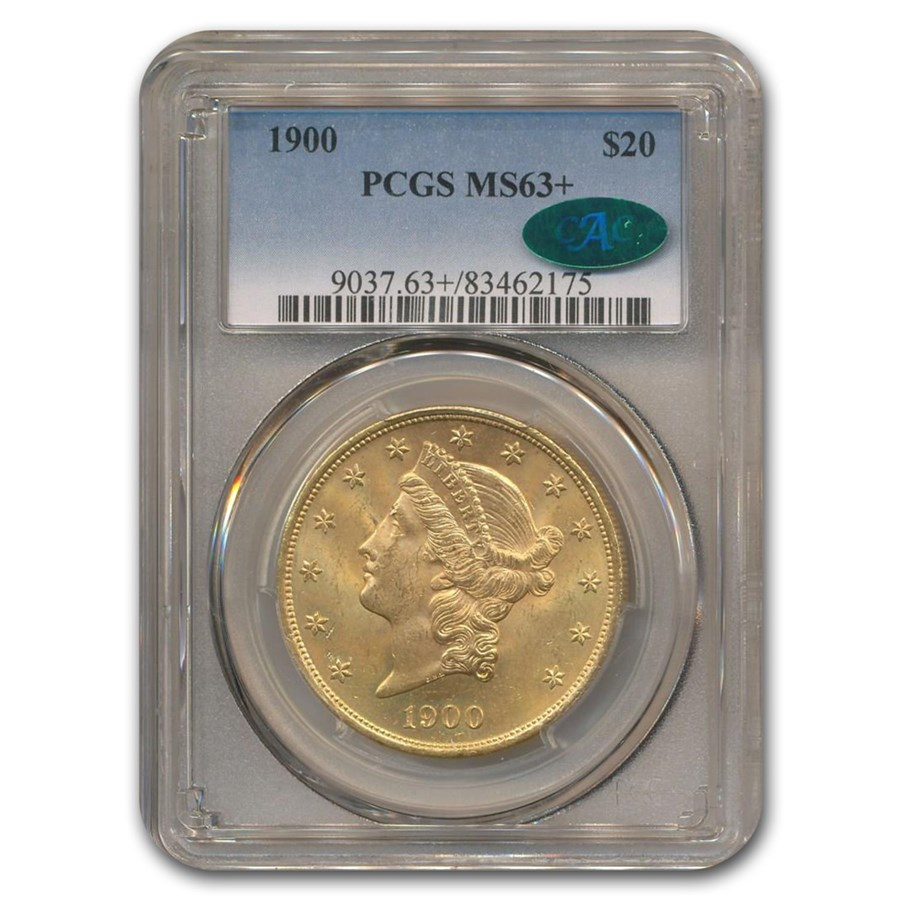 1900 $20 Liberty Gold Double Eagle MS-63+ PCGS CAC