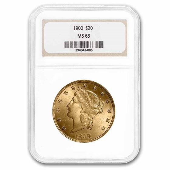 1900 $20 Liberty Gold Double Eagle MS-65 NGC