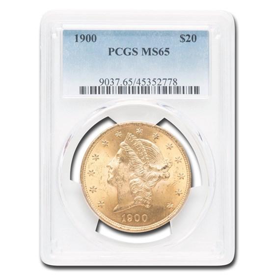 1900 $20 Liberty Gold Double Eagle MS-65 PCGS