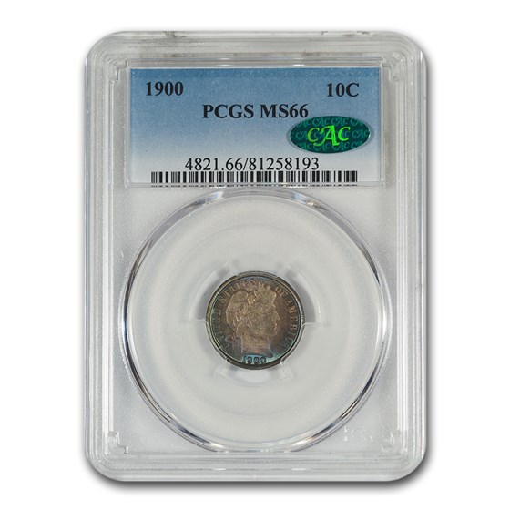 1900 Barber Dime MS-66 PCGS CAC
