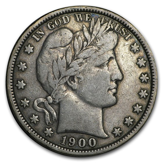 1900 Barber Half Dollar VF