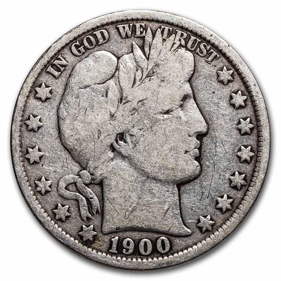 1900 Barber Half Dollar VG