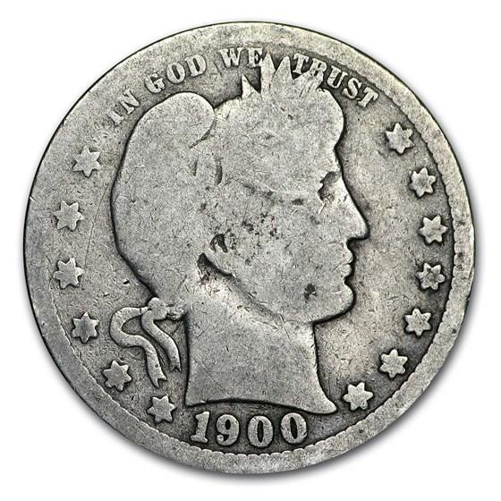 1900 Barber Quarter Good/VG
