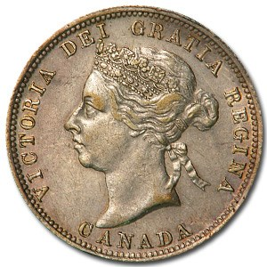 1900 Canada 25 Cents XF
