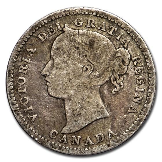 1900 Canada Silver 10 Cents Victoria Avg Circ (Good-VG)