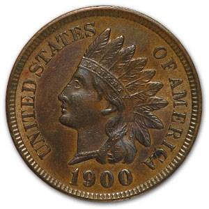 1900 Indian Head Cent AU