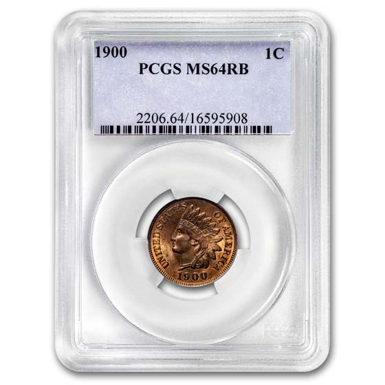 1900 Indian Head Cent MS-64 PCGS (Red/Brown)