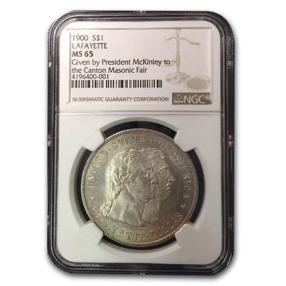 1900 Lafayette Dollar MS-65 NGC (Given by Pres. McKinley)