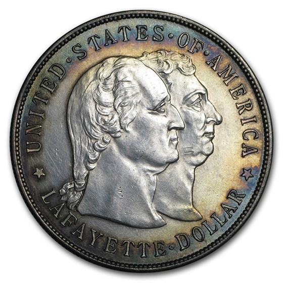 1900 Lafayette Dollar Unc Details (Hairlines)