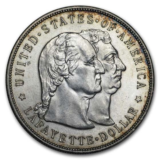 1900 Lafayette Silver Dollar Commem AU