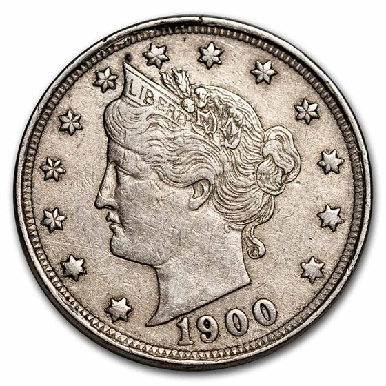 1900 Liberty Head V Nickel AU