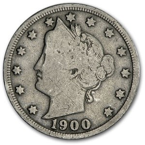 1900 Liberty Head V Nickel Good+