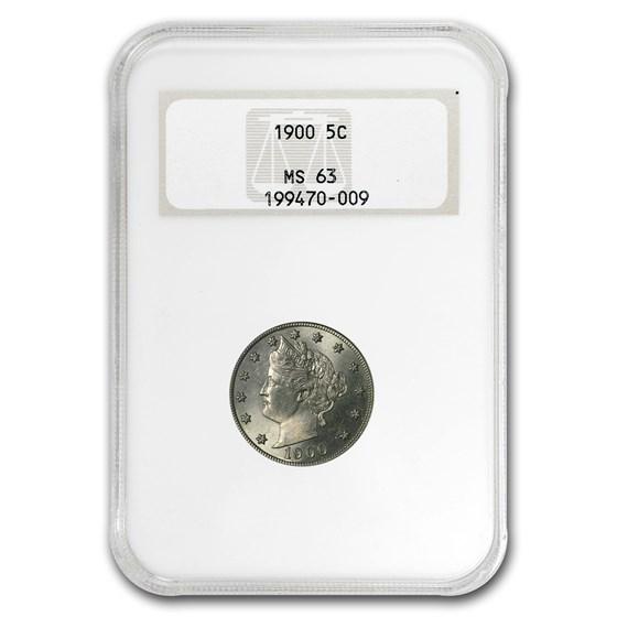 1900 Liberty Head V Nickel MS-63 NGC