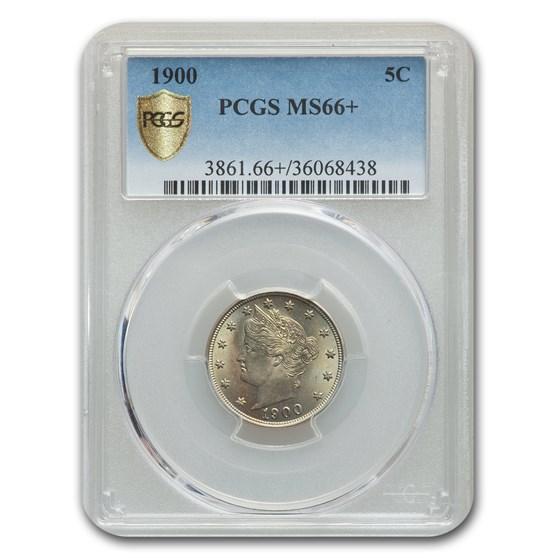 1900 Liberty Head V Nickel MS-66+ PCGS