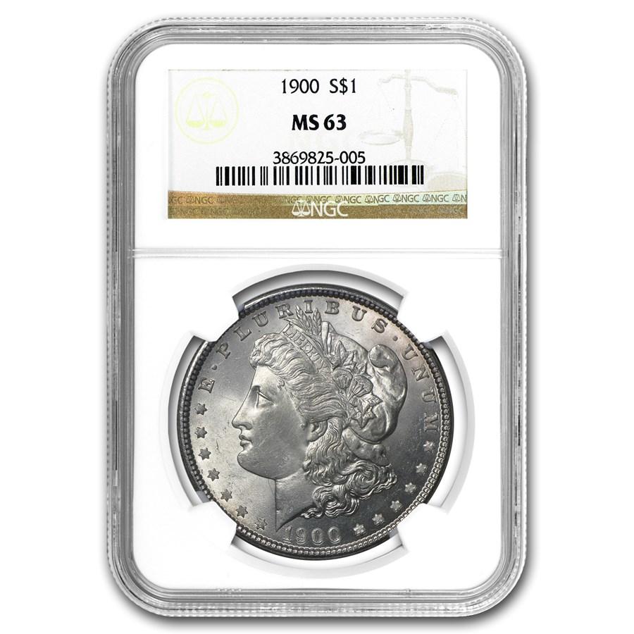 1900 Morgan Dollar MS-63 NGC