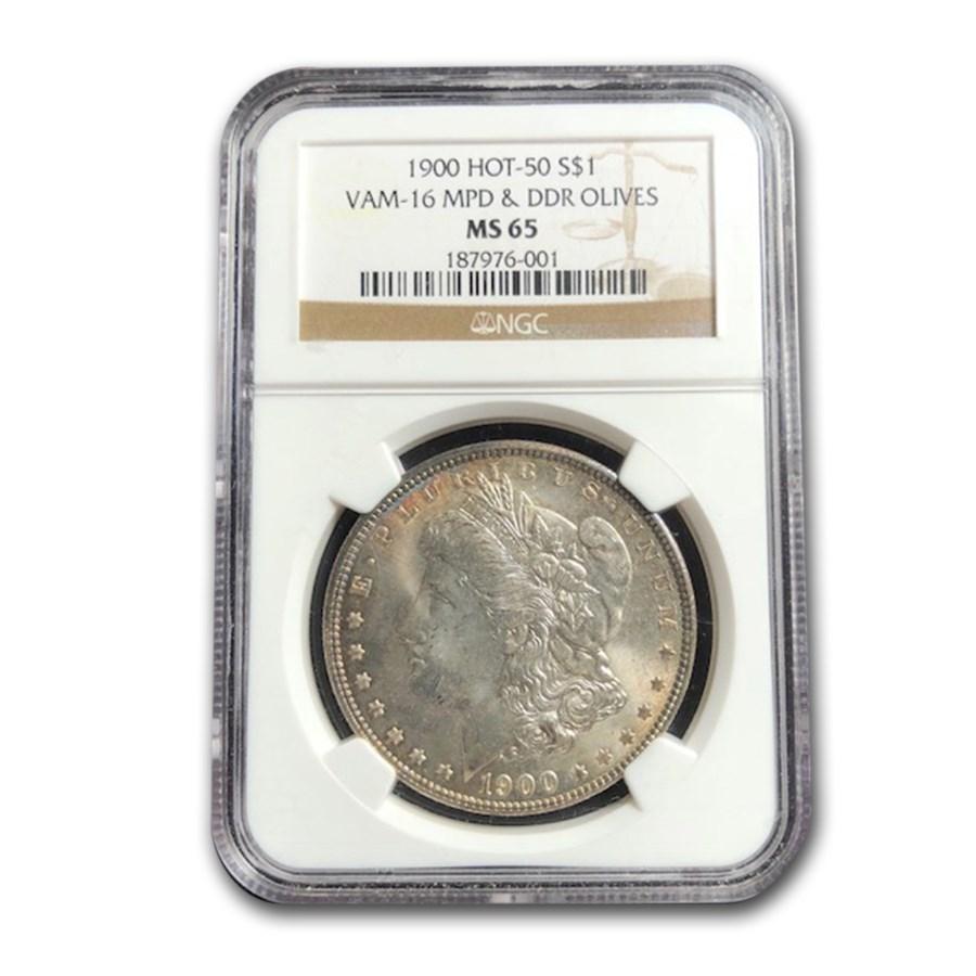 1900 Morgan Dollar MS-65 NGC (VAM-16 MPD & DDR Olives, Hot-50)