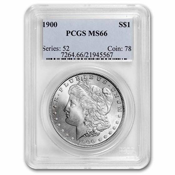1900 Morgan Dollar MS-66 PCGS