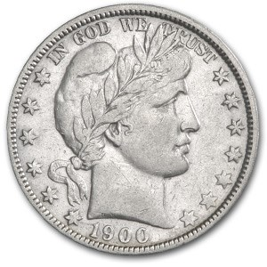 1900-O Barber Half Dollar XF Details (Cleaned & Scratched)