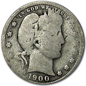 1900-O Barber Quarter AG