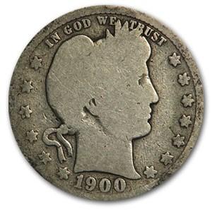 1900-O Barber Quarter Good