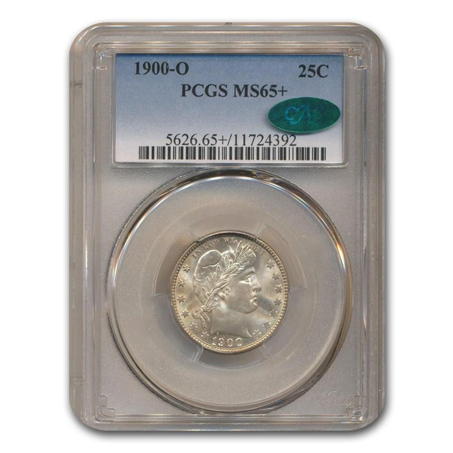 1900-O Barber Quarter MS-65+ PCGS CAC