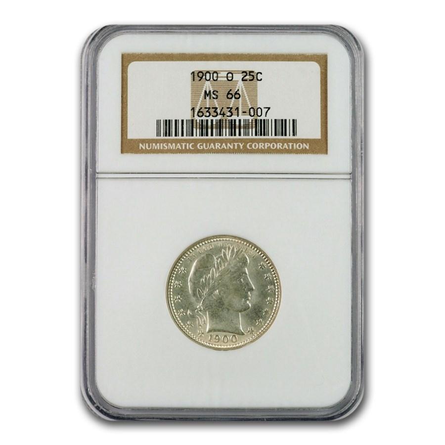 1900-O Barber Quarter MS-66 NGC