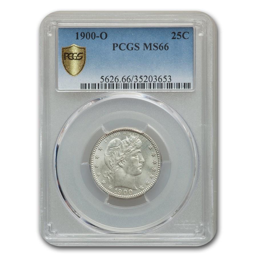 1900-O Barber Quarter MS-66 PCGS