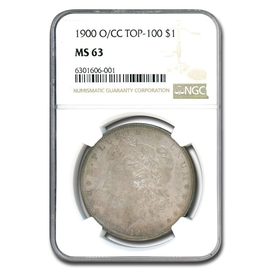 1900-O/CC Morgan Dollar MS-63 NGC (O/CC, Top-100)