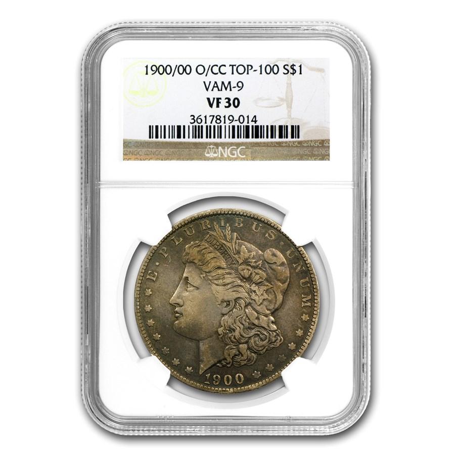 1900-O/CC Morgan Dollar VF-30 NGC (VAM-9, O over CC, Top-100)