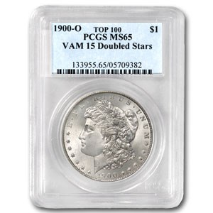 1900-O MS-65 PCGS (VAM-15, Doubled Stars, Top-100)