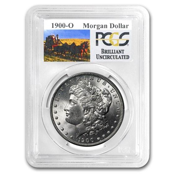 1900-O Stage Coach Morgan Dollar BU PCGS