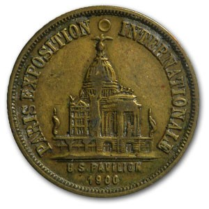 1900 Paris International Exposition US Exhibit Brass Token