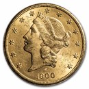 1900-S $20 Liberty Gold Double Eagle BU